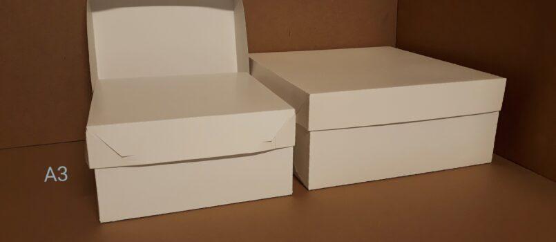 Kartony do ciast i tortów z oddzielną pokrywką