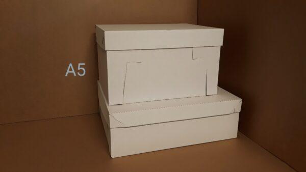 Pudełko z mikrofali z oddzielną przykrywką na torty i duże porcje ciast